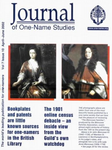 one-name studies cover